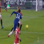 Close chance by R. James [Chelsea] 6'