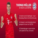 Thomas Müller unstoppable! He provided 14 assists after 22 matches - Bundesliga record. 15 G+A in his last 12 apps