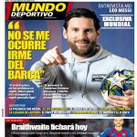 "[Mundo Deportivo] Messi: ""It doesn't cross my mind leaving Barça"". ""If the club wants, there's no problem in continuing. I want to win another CL and keep winning leagues"""