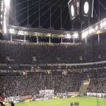 """Eintracht Frankfurt stadium reacts with """"Nazis out"""" after some Idiot interrupts minute of silence (Just 24 hours ago a Neonazi shot 11 people close to Frankfurt)"""