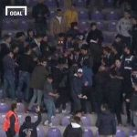 Turkish fans stage stadium fight to deliver birthday cake to unsuspecting policeman