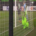 Wolfsburg 0-1 Malmo FF - Isaac Kiese Thelin penalty 47'