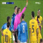 Arturo Vidal (Barcelona) second yellow card vs Napoli 89'