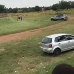 Disgruntled fan drives onto the pitch and tries to run over the referee in the South African third division