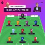 Alan Shearer's team of the week