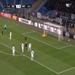 Tomas De Vincenti (APOEL) penalty miss against FC Basel 74'
