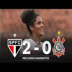[Brasileiro Feminino] São Paulo FC defeated Corinthians 2-0 and ended their historic unbeaten streak of 48 matches | Highlights