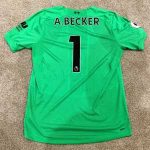 Ben Foster is once again auctioning Alisson's shirt to raise money for Cure Leukaemia.