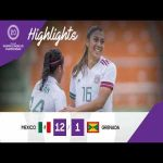 Mexico 12 - 1 Grenada | CONCACAF Under-20 Women's Championship Highlights