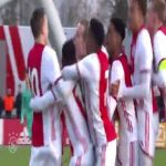 Video of Ajax U19 goalie saving his third penalty and then scoring the last one himself.