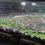 Saint-Étienne fans invading pitch after making Coupe de France final for the first time in 38 years.
