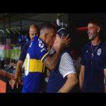 Maradona and Carlitos Tévez share an intimate kiss