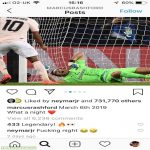 Neymar comment's 'fucking night' on the 1 year anniversary of Manchester United knocking PSG out of the champions league.