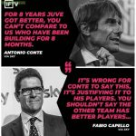Fabio Capello Responding To Conte on comparing Inter to Juventus