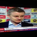 Solskjaer being asked what he thinks about Liverpool's title challenge in 2014