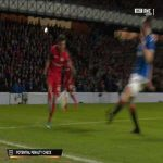 Rangers 0-1 Leverkusen - Kai Havertz penalty 37'