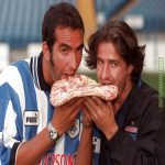 As there's Going To Be No Matches For Awhile Please Enjoy This Very 90's Picture of Sheffield Wednesday Announcing The Signings of Italian Duo Paolo Di Canio and Benite Carbone By Having Them Pose With An Uncooked Pizza