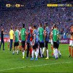 Brawl between Grêmio and Internacional at the end of their Copa Libertadores match