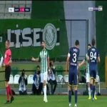 Omer Sahiner (Konyaspor) second yellow card against Fenerbahce 77'