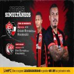 Brazilian team Vitória is playing two official matches simulteously today