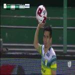 León [2]-1 Pumas UNAM: Ángel Mena 32'