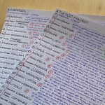 Minor but interesting insight into the work of commentators: Clive Tyldesley meticulous handwritten notes ahead of Liverpool-Atletico Last week
