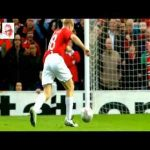 Paul Scholes' stunning goal in 2008 Champions League semi final second leg against Barcelona.