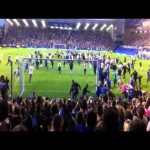 Tony Hibbert scoring his only ever goal; and Everton fans invading the pitch because of it