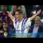 Andriy Shevchenko hattrick at Camp Nou in 1997/98 CL: Barcelona 0 - 4 Dynamo Kyiv