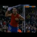 FC Barcelona [4] - 0 Villareal : Ronaldinho bicycle kick 88'