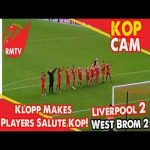 Klopp forcing players to celebrate with crowd after draw to West Brom