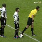 Top tier shithousery by Steven Taylor putting off Begovic before a free kick