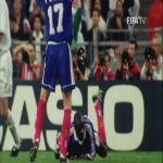 Back in the '98 WC semi-final between France and Croatia, the former went behind after an error by Thuram. He proceeded to redeem himself by scoring 2 goals in a comeback victory. Thuram is France's most capped player at 142 apps and those 2 goals are the only ones he's ever scored for them.
