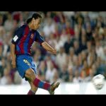The goal Ronaldinho scored at 01:30 AM (Barcelona local time)