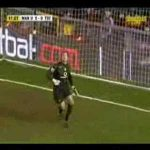 Roy Carroll's incredible reactions to deny Pedro Mendes a goal (great save)