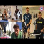 FC Bayern YouTube Channel shows how they exercise via video conference while beeing in self-isolation