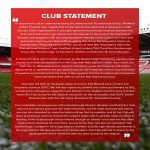 Sheffield United club statement re; actions of former owner Kevin McCabe