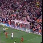 Fantastic half volley goal by Steven Gerrard against Middlesbrough (2005)
