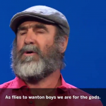 Throwback to Cantona's speech at the Champion's League draw
