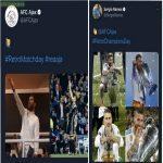 Sergio Ramos's response to Ajax tweet