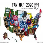 2020 MLS fan map created using data from 5000+ supporters