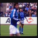 On this day in 1989, Maradona did the most famous warm-up in football before Bayern-Napoli UEFA cup semifinal