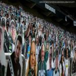 Borussia Monchengladbach fans have paid for cardboard cutouts of themselves to fill the stadium if Bundesliga matches resume behind closed doors. Some 2,000 are already in place with at least another 6,000 on the way