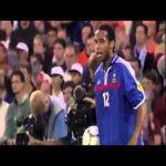 Henry against Cannavaro, Nesta and Maldini in the 2000 EURO final