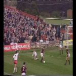 On this day in 1993 Wrexham FC beat Northampton by 2-0, leading to Wrexham's promotion to division 2. Division 2 has since been renamed to League 2.
