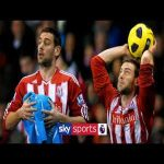 Every goal scored from Rory Delap's iconic long throw-ins for Stoke City