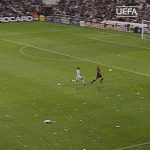 On this day in 2002, Raul scored this goal against Barcelona to help send Real Madrid to the final against Leverkusen. Real Madrid would go on to win the Ninth against Leverkusen.