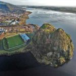 The Dumbarton Stadium from the sky. Commonly known as The Rock.