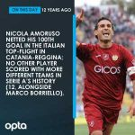 On this day in 2008, Nicola Amoruso netted his 100th goal in the Italian top-flight in Catania-Reggina; no other player scored with more different teams in Serie A history (12, alongside Marco Borriello).