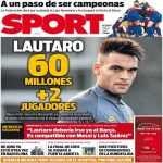[SPORT] FC Barcelona and Inter are very close to an agreement for Lautaro Martinez. The current proposal is 60 million euros and two Barça players for the Argentinian.